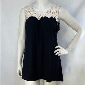 NWT swing tank with crochet accents